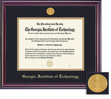 Framing Success Elite Diploma Frame, in Gloss Cherry Finish Double Matted