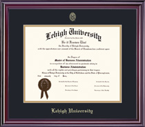 Elite Diploma Frame  Double Matted WEco FscCertified Hardwood In Gloss Cherry Finish