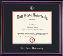 Elite PhD Double Matted Diploma Frame in Gloss Cherry Finish