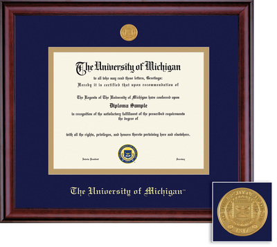 Framing Success Classic Diploma Frame with Medallion, Double Matted. Bachelors and Masters