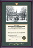 Framing Success Windsor Law Medallion DiplomaPenInk Litho Double Matted Diploma Frame