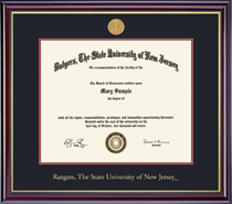 Framing Success Windsor Medallion 8.5x11 Double Matted Diploma Frame in Gloss Cherry Finish