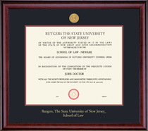 Framing Success Classic Law With Medallion Double Matted Diploma Frame
