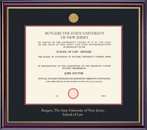 Framing Success Windsor Law 8.5x11 With Medallion Double Matted Diploma Frame