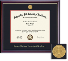 Framing Success Windsor Ma 11 X 14 MedallionDouble Matted In Gloss Cherry Finish