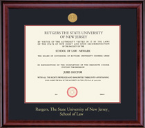 Framing Success Classic Law 11 X 14 With MedallionDouble Matted In Cherry Finish