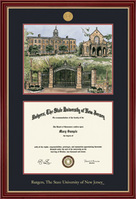 Framing Success Regal 8.5x11 Diploma Frame Cherry Finish with Gold Accents