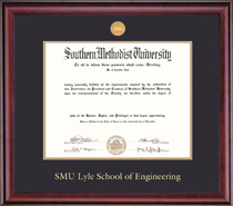 Classic Engineering Medallion Double Matted Bachelors Diploma Frame