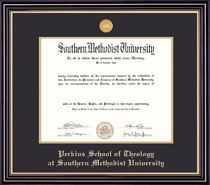 Prestige Perkins Medallion Double Matted MA PhD Diploma Frame