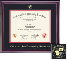 Framing Success Elite 0306Present Diploma Frame Double Matted in Gloss Cherry Finish