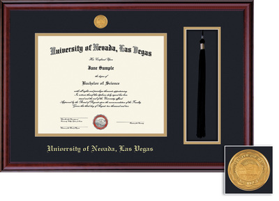 Framing Success Classic Medallion Tassel Frame Double Matted Diploma Frame
