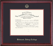 Classic Diploma Frame Double Matted in a Burnished Cherry Finish