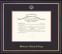 Prestige Diploma Frame Double Matted in Satin Black Finish and Gold Trim