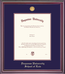 Grandeur Law Medallion Double Matted Diploma Frame