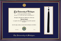 Windsor Tassel with Medallion Double Matted Diploma Frame