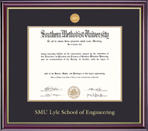Windsor 409Pres Engineering Medallion Double Matted MA PhD Diploma Frame