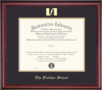 Classic Diploma Frame In Burnished Cherry Finish