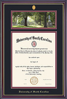 Windsor PhotoMedallion With BlackMaroon Double Matted Diploma Frame