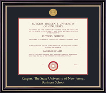 Prestige Business Medallion Double Matted Diploma Frame
