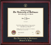 Classic Law Double Matted Diploma Frame