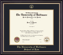 Prestige Law BA Double Matted Diploma Frame
