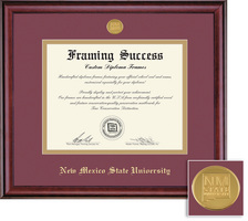 Framing Success Classic Medallion MaroonGold Matted Diploma Frame