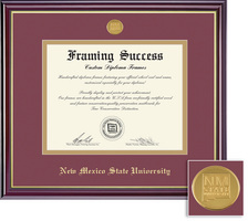 Framing Success Windsor Medallion MaroonGold Matted Diploma Frame