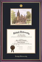 Windsor Medallion DiplomaLitho Double Matted Diploma Frame