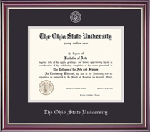 Jefferson Double Matted Diploma Frame in a HighGloss Cherry Finish
