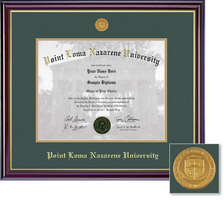 Framing Success Windsor Diploma Frame wMedallion, Dbl Matted in Gloss Cherry Finish and Gold Trim