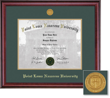 Framing Success Classic Double Matted Diploma Frame with Medallion in a Burnished Cherry Finish