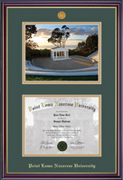 Windsor Medallion Diploma & Photo Double Matted Diploma Frame