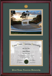 Classic Medallion Diploma & Photo Double Matted Diploma Frame