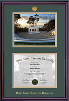 Elite Medallion Diploma & Photo Double Matted Diploma Frame