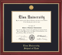 Framing Success Law Frame With Medallion Cherry Finish with Gold Accents