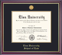 Framing Success Windsor Law Medallion Double Matted Diploma Frame