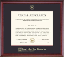 Framing Success Classic Medallion Fox 109PresDouble Matted Diploma Frame