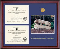 Framing Success Penn State Nittany Lions Classic Double Diploma Frame