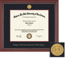 Framing Success Grandeur 8.5x11 Diploma Frame with Mahogany Finish and Carved Inner Border