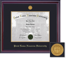 Framing Success Elite Medallion MA Double Matted Diploma Frame in Gloss Cherry Finish