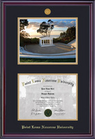 Elite Medallion BA Diploma & Photo Double Matted Diploma Frame in Gloss Cherry Finish
