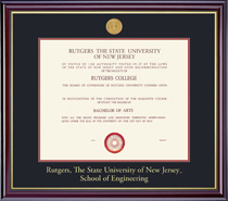 Windsor Medallion Engineerig Double Matted Diploma Frame