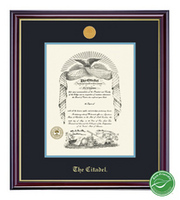 Windsor Medallion Double Matted Diploma Frame