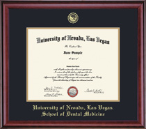 Classic Dental Double Matted Diploma Frame