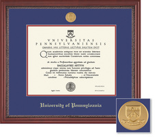 Framing Success University Of Pennsylvania Grandeur Moulding Single Diploma Frame Gold Medallion