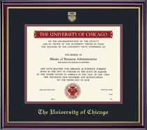 Windsor College (311 Present) Double Matted Diploma Frame