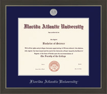 Metro Medallion Double Matted Diploma Frame