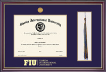 FIU Bachelor Windsor Tassel Degree Frame