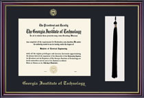 Windsor Single Black Matted Diploma Frame