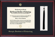 Classic Single Black Matted Diploma Frame